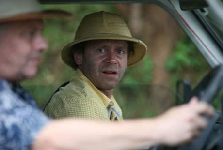 Z natáčení filmu Doktor od Jezera hrochů