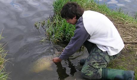 Pouštění ryby šetrným způsobem