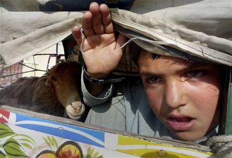 Pakistánští uprchlíci ve městě Dera Ismaíl Chán. (18. října 2009)