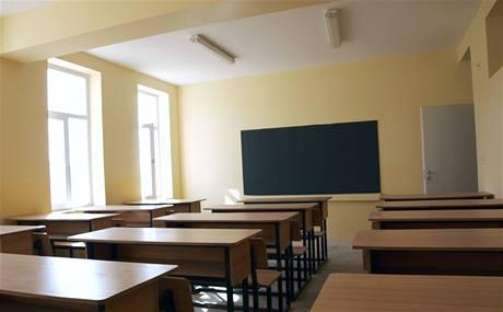 Jedna ze tříd pro afghánské dívky.