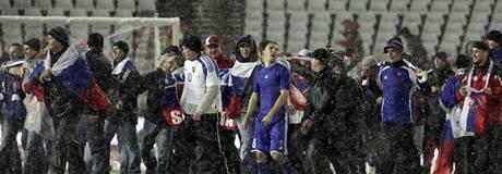 Polsko - Slovensko: radost slovenských fanoušků