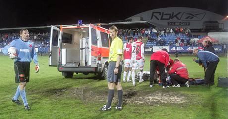 Slavia: zraněný Deniss Romanovs, přichází Martin Vaniak