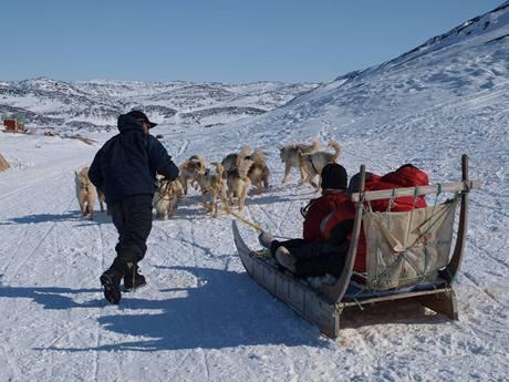 Z výstavy Grónsko, země mizejícího ledu