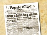 Italské noviny Il popolo d'Italia