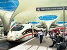 Vizualizace nádraží ve Stuttgartu, které má být v podzemí