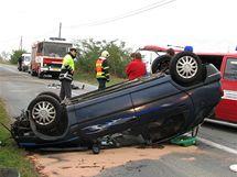 Nehoda u Žabčic na Brněnsku