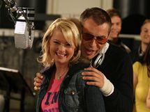Z natáčení videoklipu Děti ráje - B.Slezáček a I.Bartošová