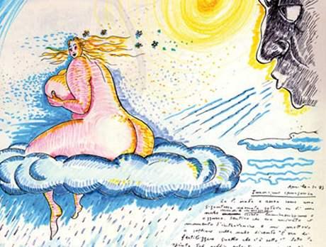 Z výstavy Tutto Fellini!  v Paříži