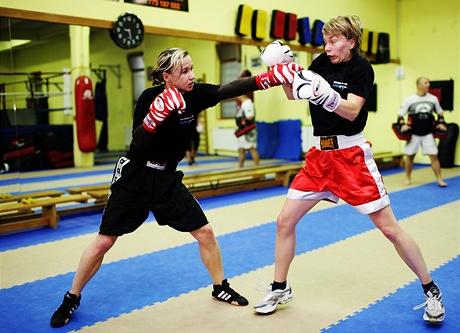 Kickboxerka Kamila Ďuricová - trénink se sparingem