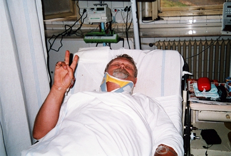Václav Weiss v nemocnici