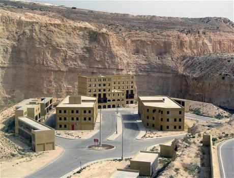 """Budoucí """"město"""", v němž vojáci speciálních jednotek budou trénovat boj v urbanizované zóně."""