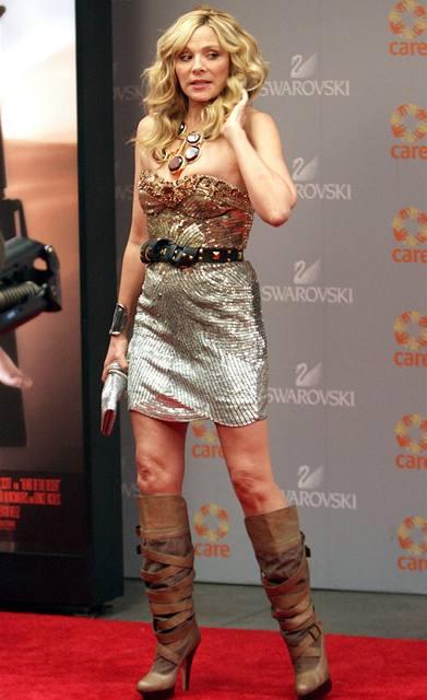 Kim Cattrallová na natáčení filmu Sex ve městě 2