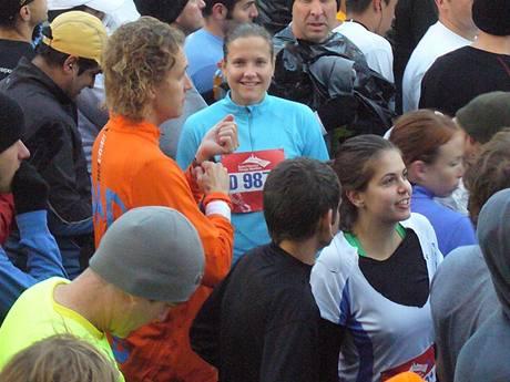 Monika na maratonu v Chicagu