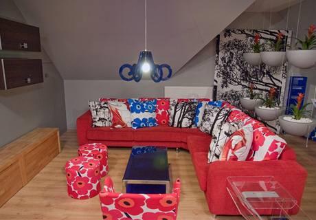 Pohled do nově zařízené obývací části