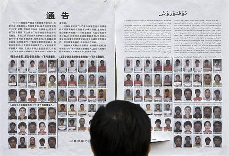 Listina s hledanými Ujgury