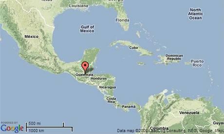 Mapa Guatemaly