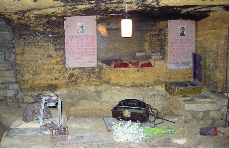 Ukrajina,Oděsa. Lenin a Stalin věčně živí v katakombách