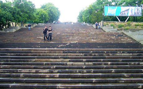 Ukrajina,Oděsa. Potěmkinovy schody