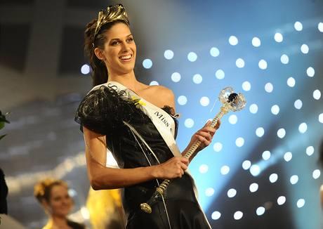 Miss ČR 2009 Aneta Vignerová a její žezlo