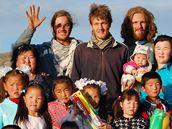 Veřejná sbírka pro děti v Mongolsku.