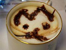 Ondřej Kabeš: Cappuccino Míca (1. místo v kategorii Malování na kávu)