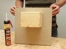 Dřevěný hranol těsně po přilepení