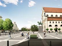 Vizualizace rekonstruovaného Moravského náměstí v Brně