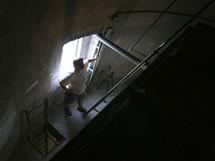 Buková hora - nad výtahem.