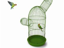 Klec, která respektuje, že papoušci milují členitý prostor a vyvýšená místa