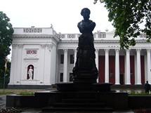 Ukrajina,Oděsa, socha Puškina