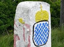 Historický hraniční kámen pod Luzným