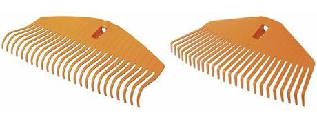 Různý tvar zubů plastových hrábí