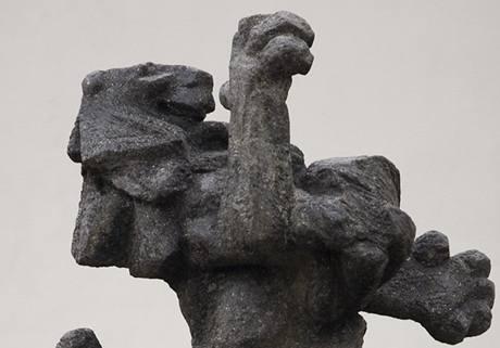 Palliardiho bránu teď střeží socha lva
