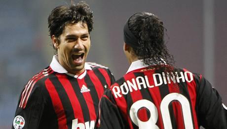 Marco Borriello a Ronaldinho z AC Milán