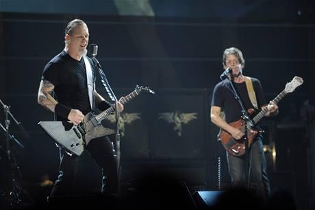 z výročního koncertu k 25 letům Rock´n´rollové síně slávy (James Hetfield, Lou Reed)