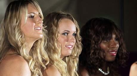 Zleva: Victoria Azarenková, Caroline Wozniacká, Serena Williamsová