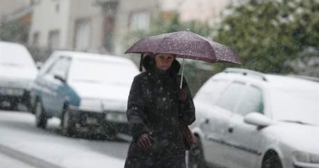 Sníh v Brně - Králově Poli