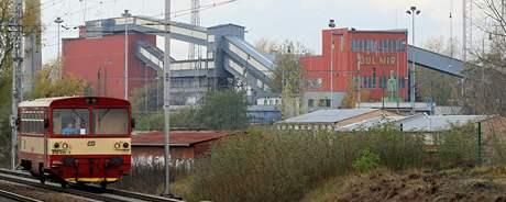 Mikulčice, v dole Mír je obnovená těžba lignitu
