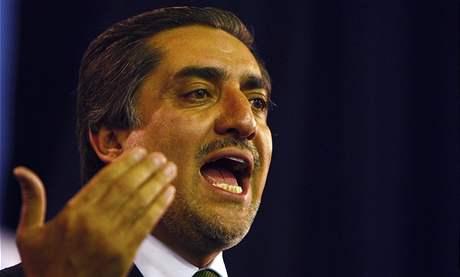 Afghánský prezidentský kandidát Abdulláh Abdulláh