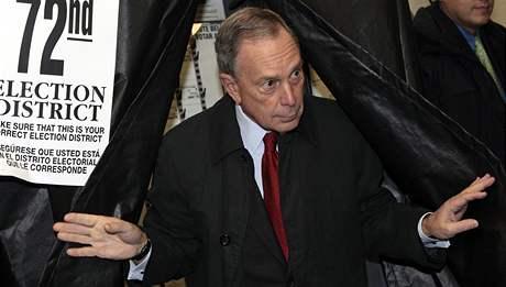 Staronový starosta New Yorku Michael Bloomberg (4. listopadu 2009)