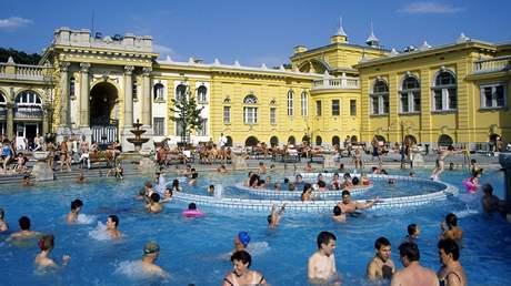 Maďarsko, Budapešť, lázně Széchényi