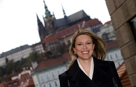 Kiera Chaplinová v Praze