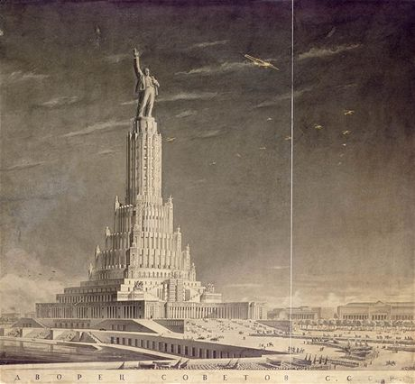 Palác Sovětů měl být nejvyšší stavbou na světě. Nebýt Druhé světové války, asi by se jí i stal.