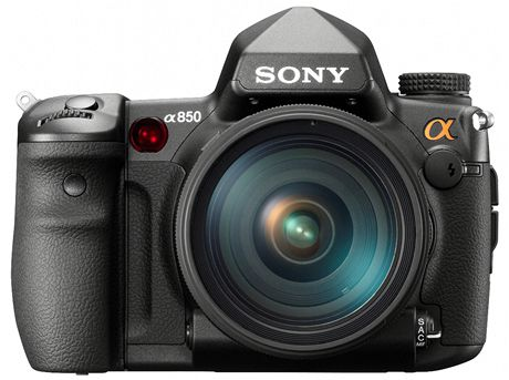 Sony Alfa 850 - frontální pohled