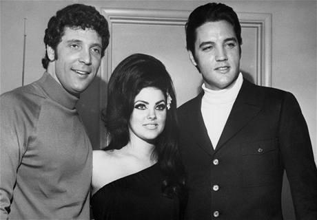 Tom Jones, Priscilla Presley a Elvis Presley v Las Vegas