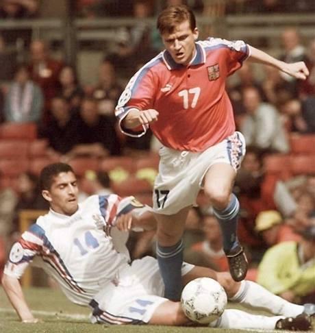 Vladimír Šmicer na ME 1996 proti Francii