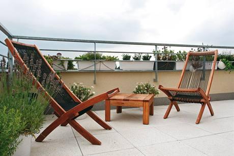 Relaxační kout na terase