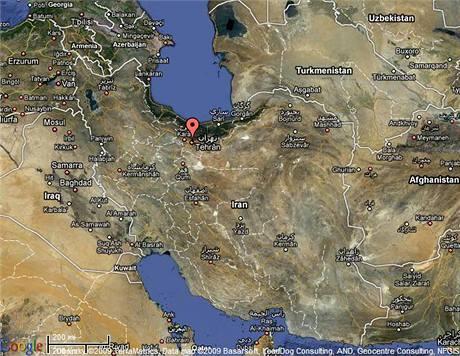 Mapa Íránu