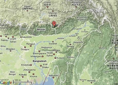 Indické město Tawang