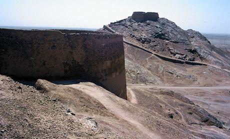 Írán. Pohřební věže vyznavačů zoroastrismu